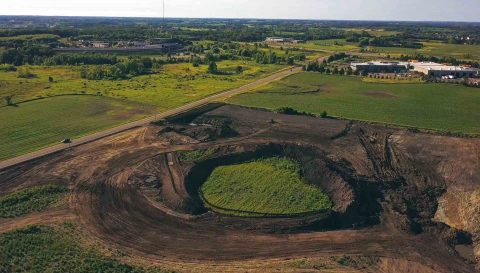 Ground Breaking Site Orbit (Aerial)